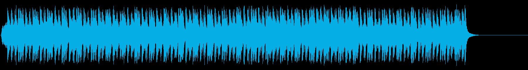ダンサブルな歌モノ風ポップ/テクノの再生済みの波形