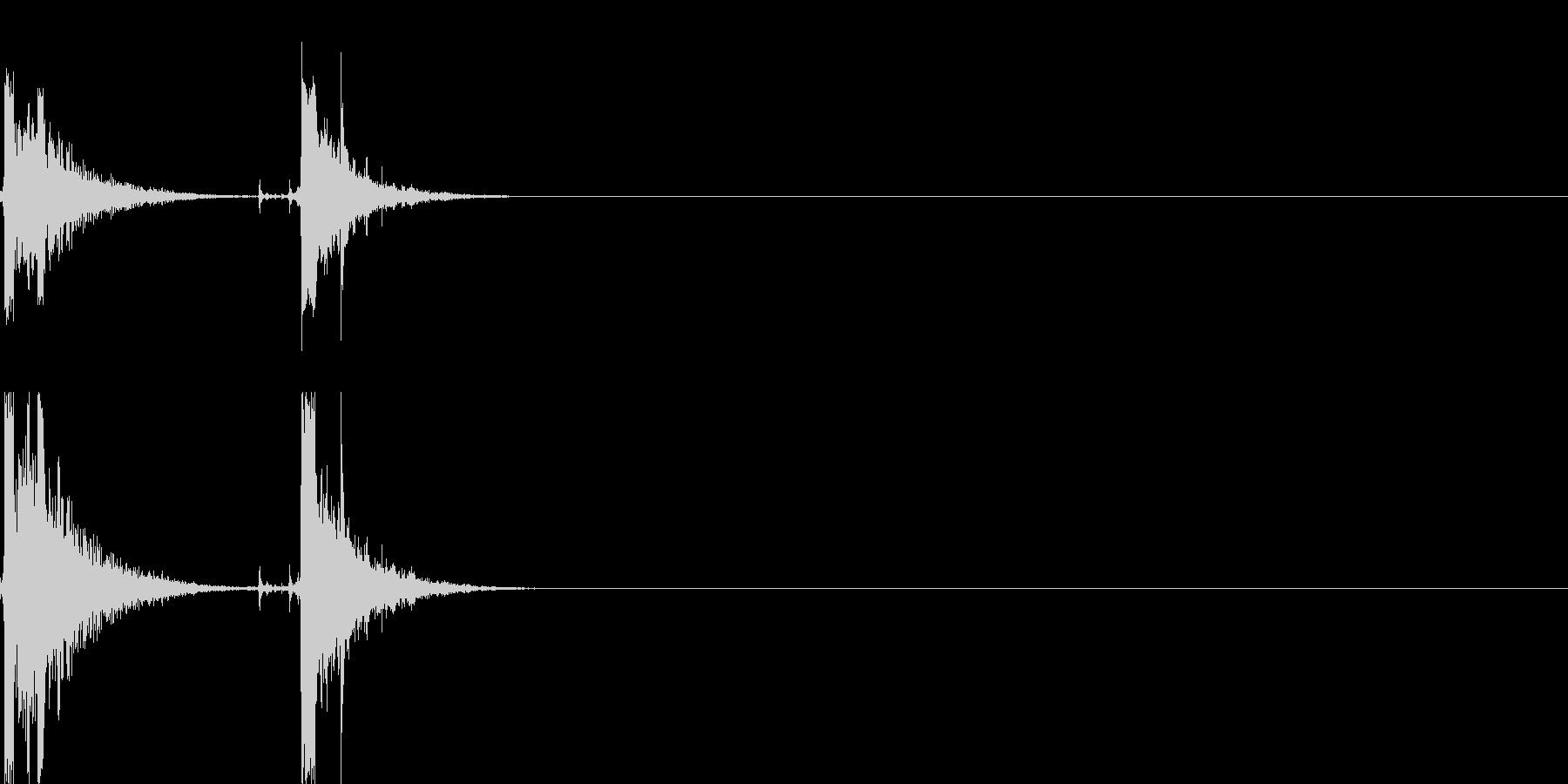 ホチキス音01の未再生の波形