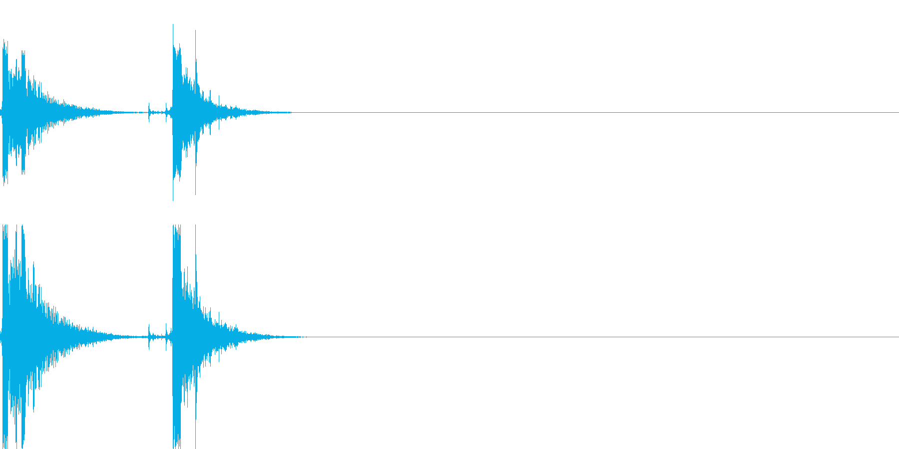 ホチキス音01の再生済みの波形