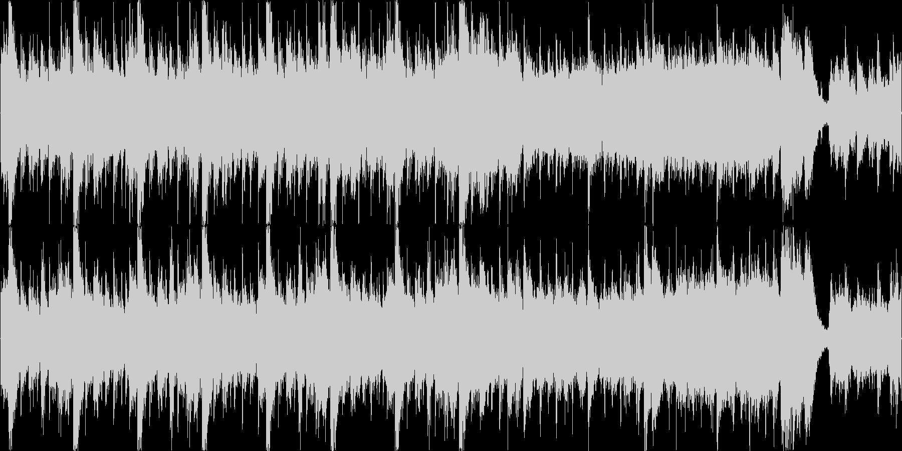 ボスバトル緊迫感のあるオーケストラループの未再生の波形