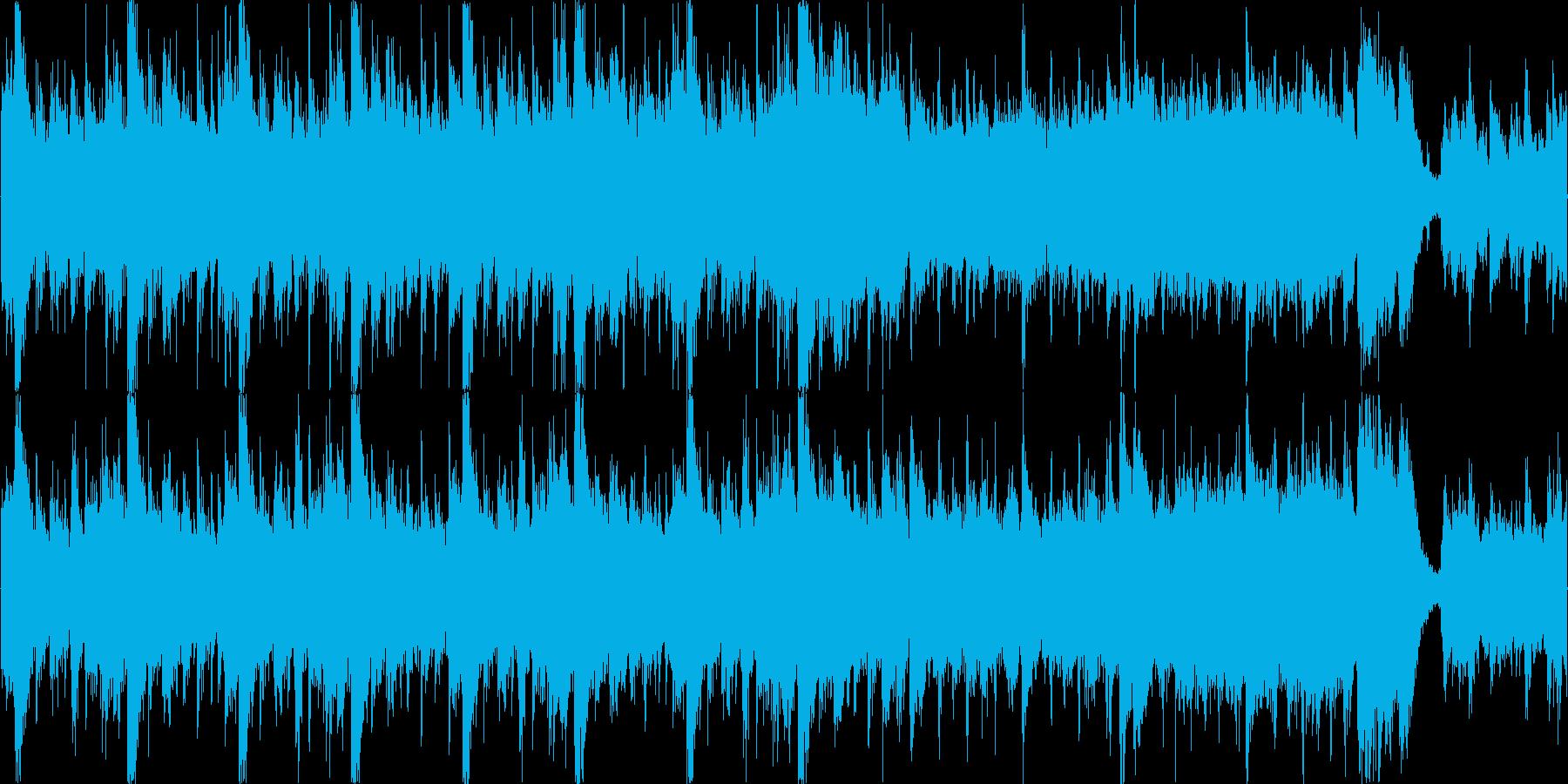 ボスバトル緊迫感のあるオーケストラループの再生済みの波形