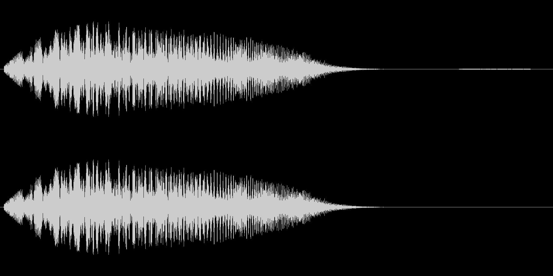 シャララ系アップ(マリンバ)の未再生の波形