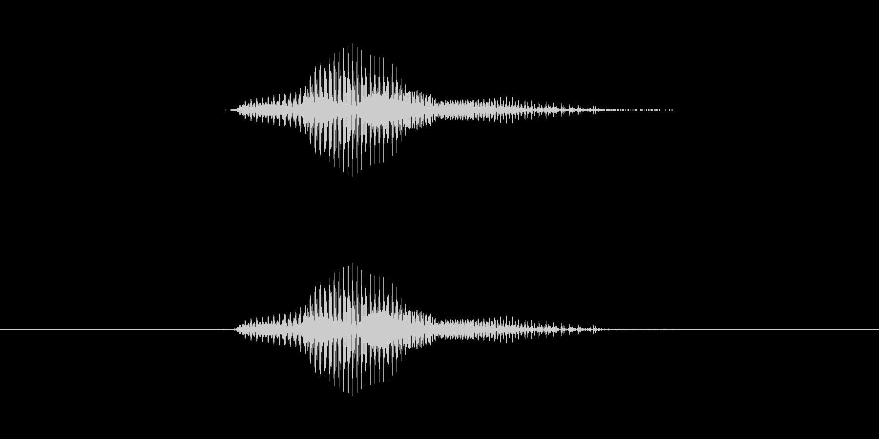【数字】7(なな)の未再生の波形