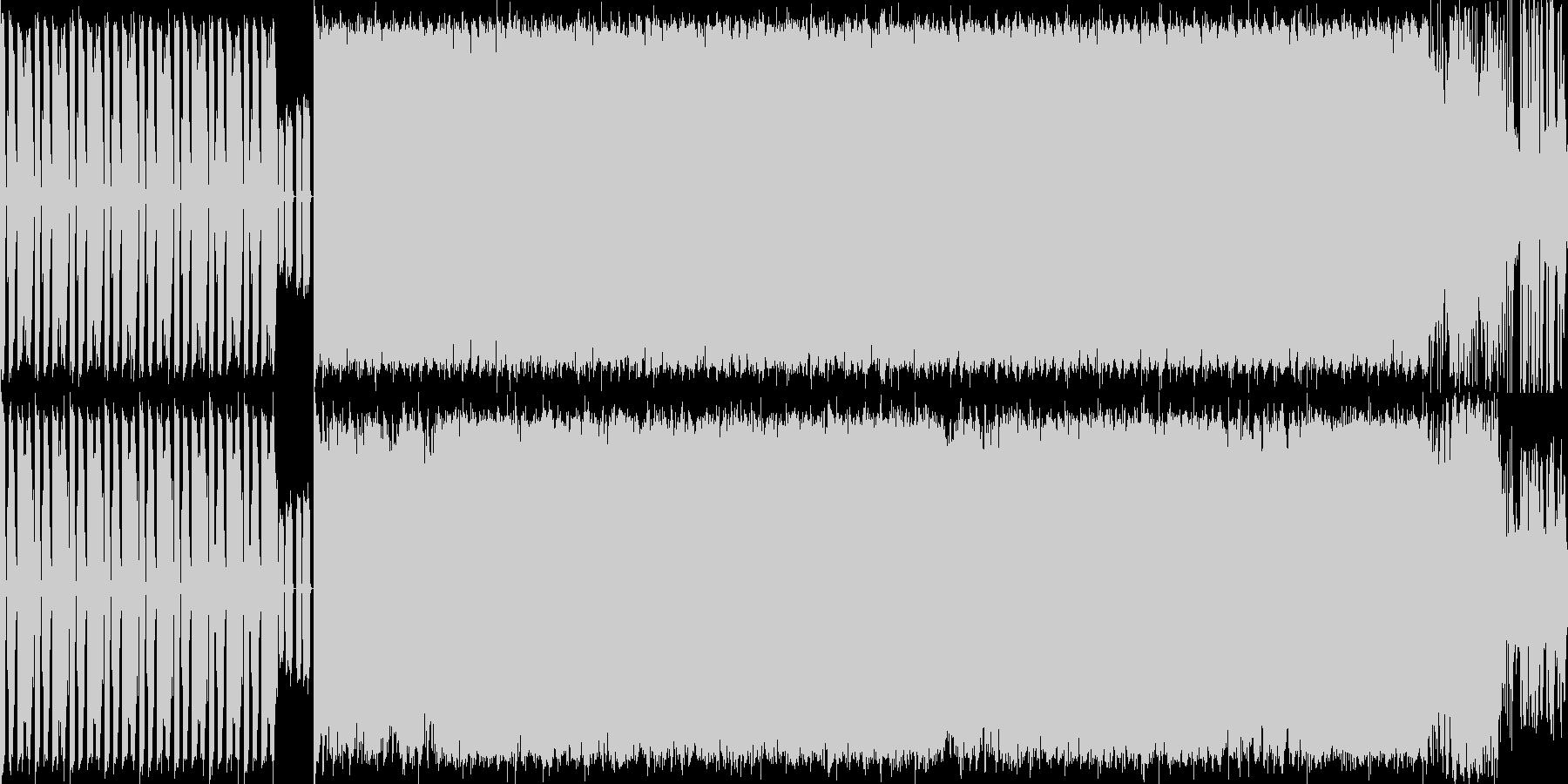 重くノれるDJが特徴のテクノロックの未再生の波形