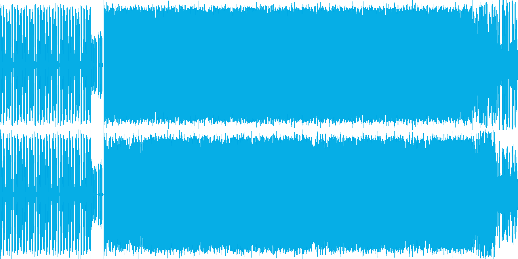 重くノれるDJが特徴のテクノロックの再生済みの波形