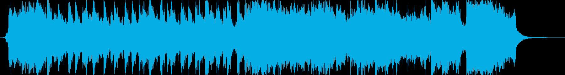 希望に満ちたオーケストラジングル。の再生済みの波形