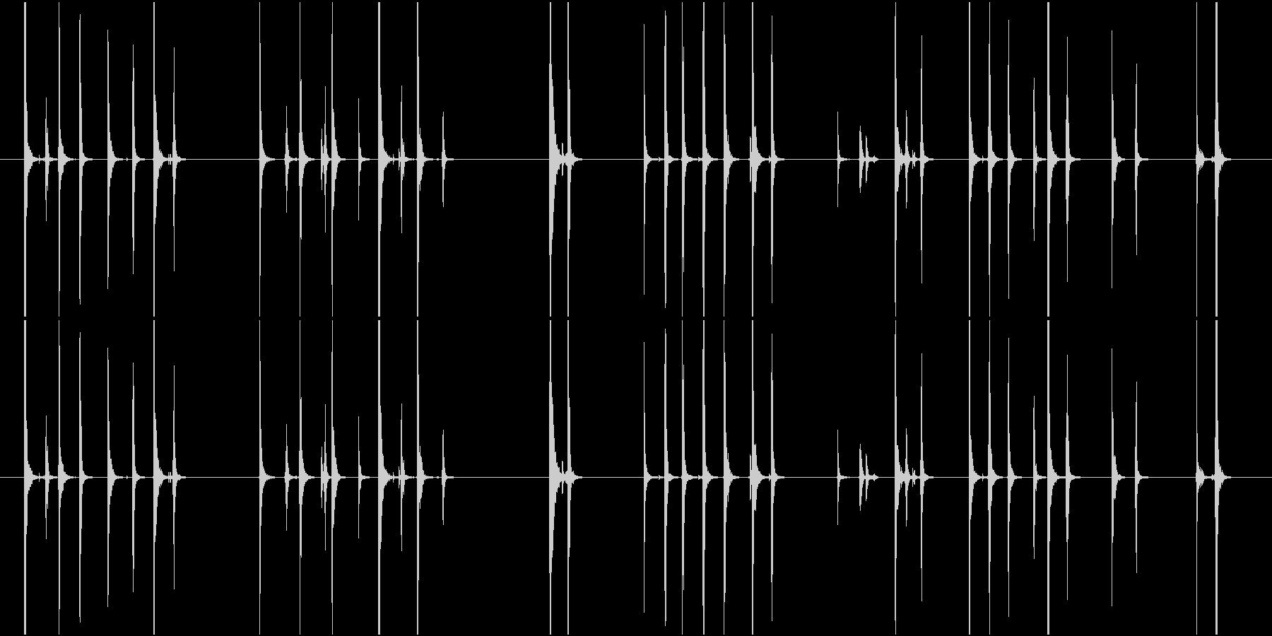 Typing キーボードを叩く音の未再生の波形