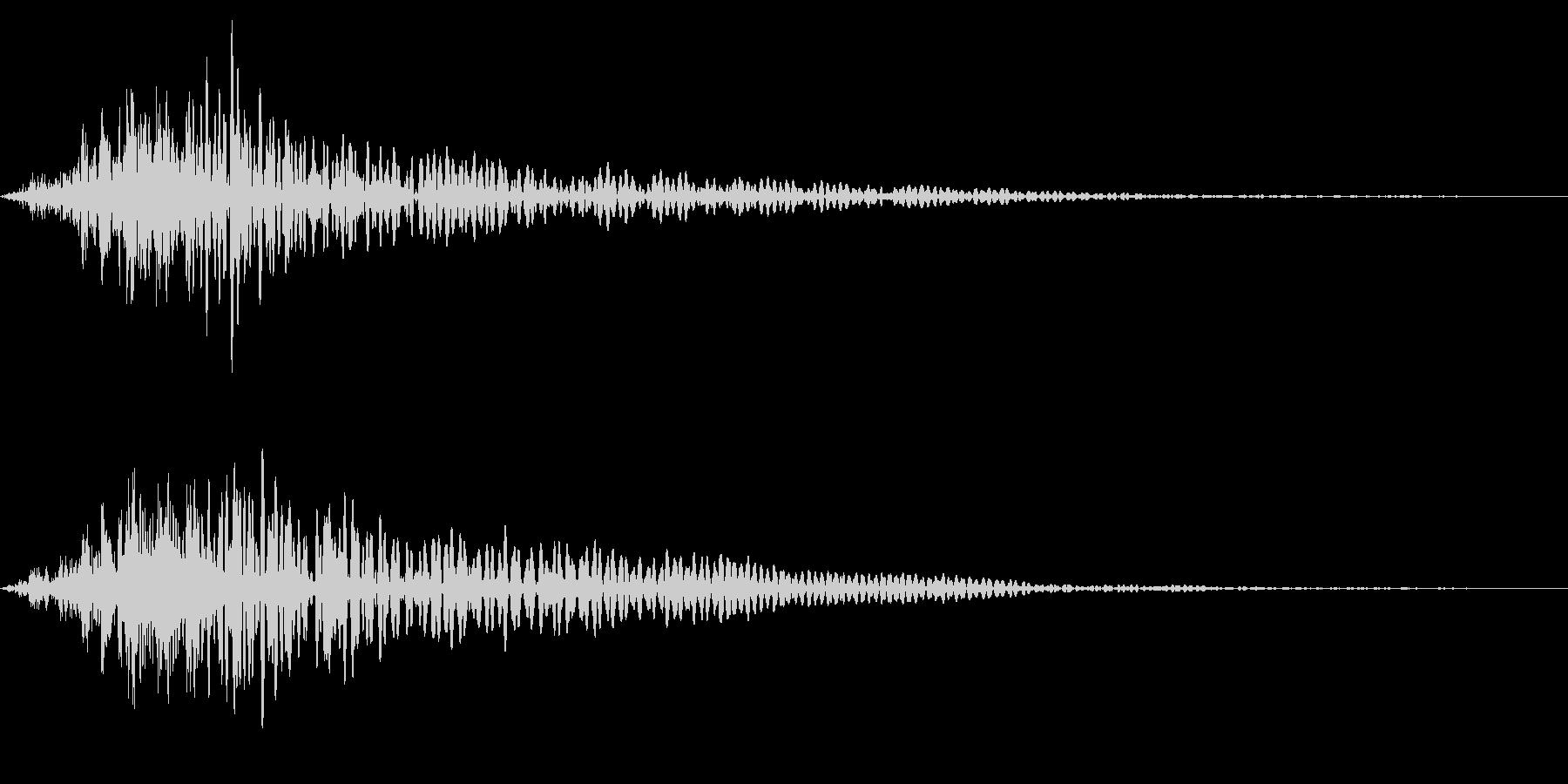 ホラー系アタック音104の未再生の波形