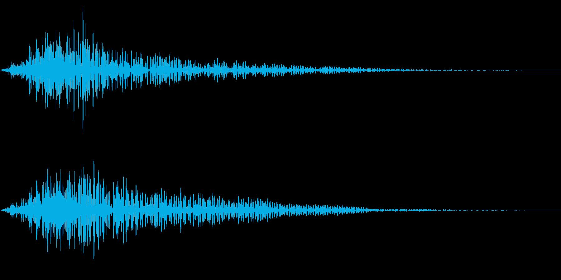 ホラー系アタック音104の再生済みの波形