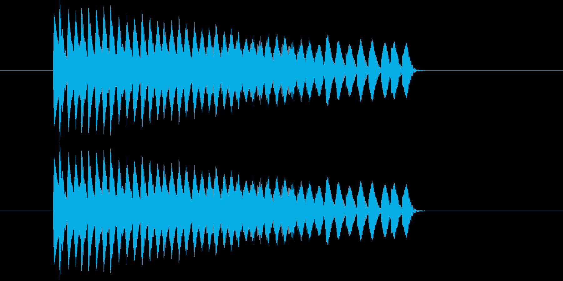アニメ、映像作品、ゲームなどの下降音の再生済みの波形