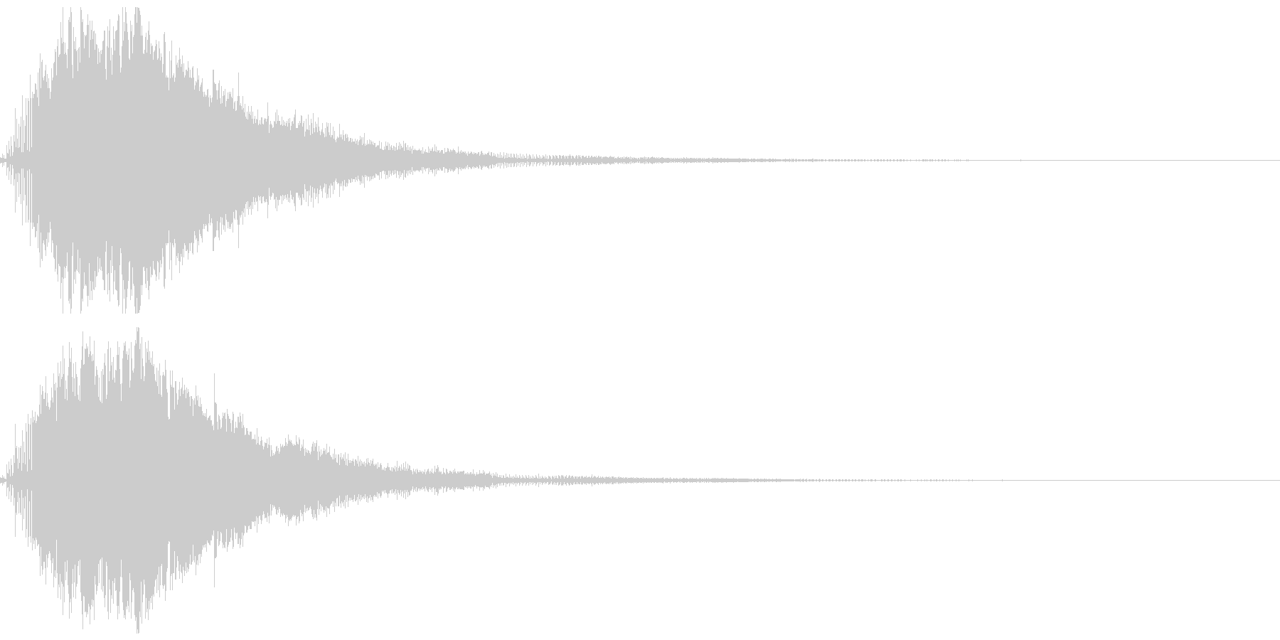 スピードアップ音01の未再生の波形