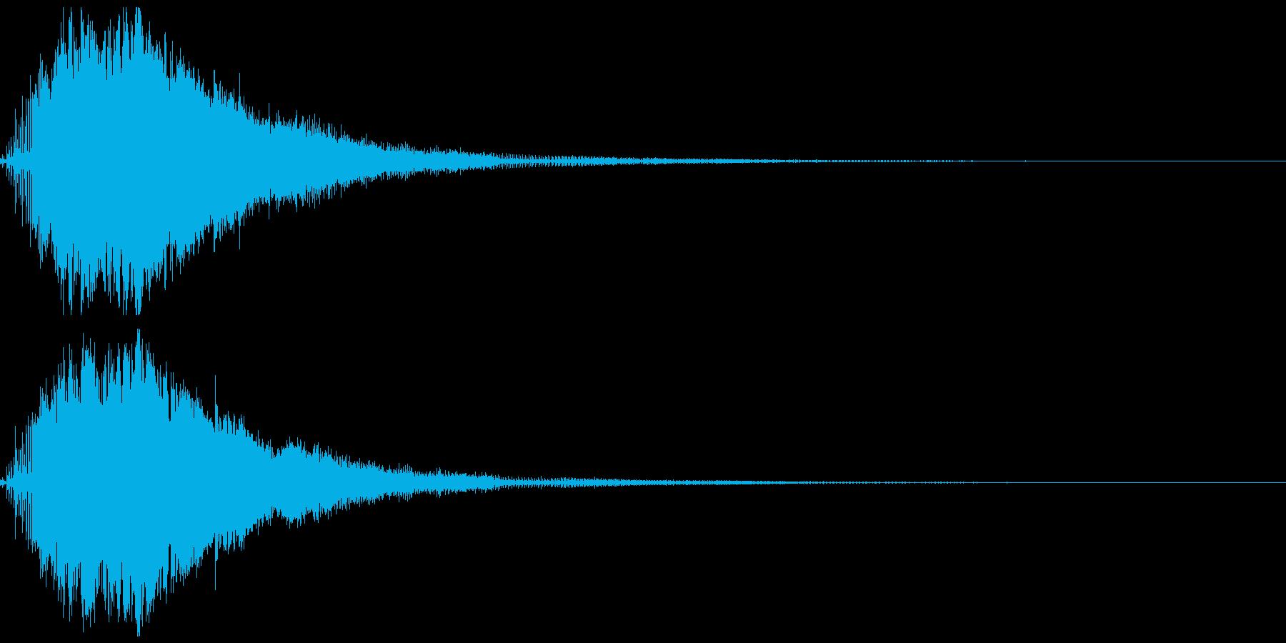 スピードアップ音01の再生済みの波形