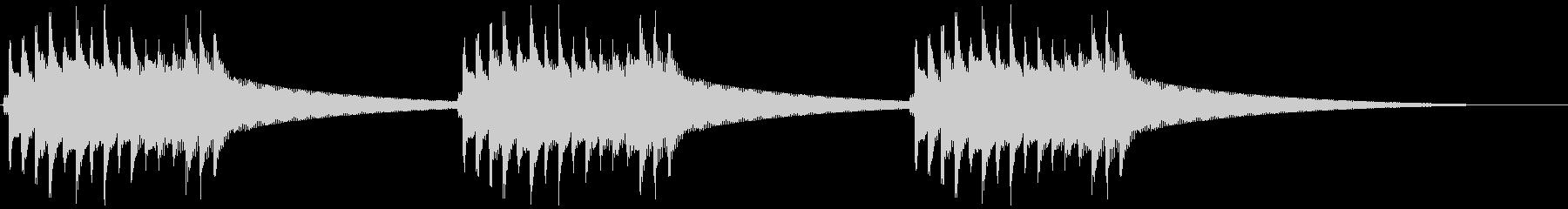 レトロ電話ベル 呼び鈴②の未再生の波形