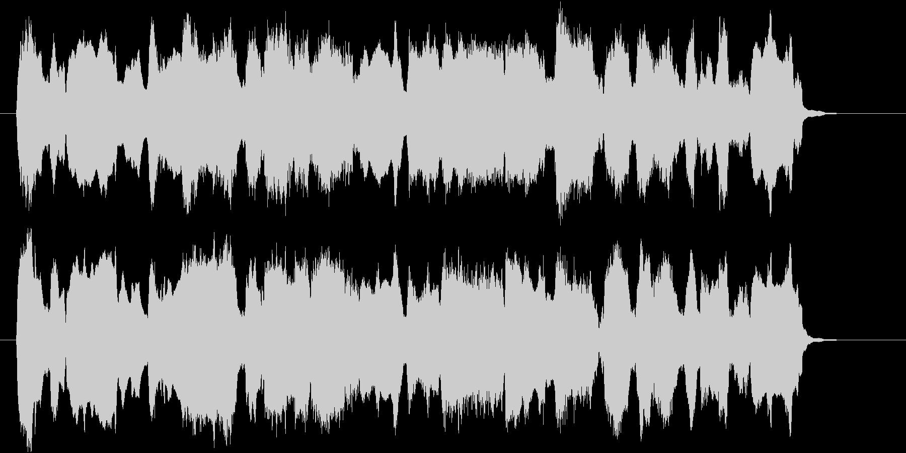 のどかな三拍子のオーボエの曲の未再生の波形
