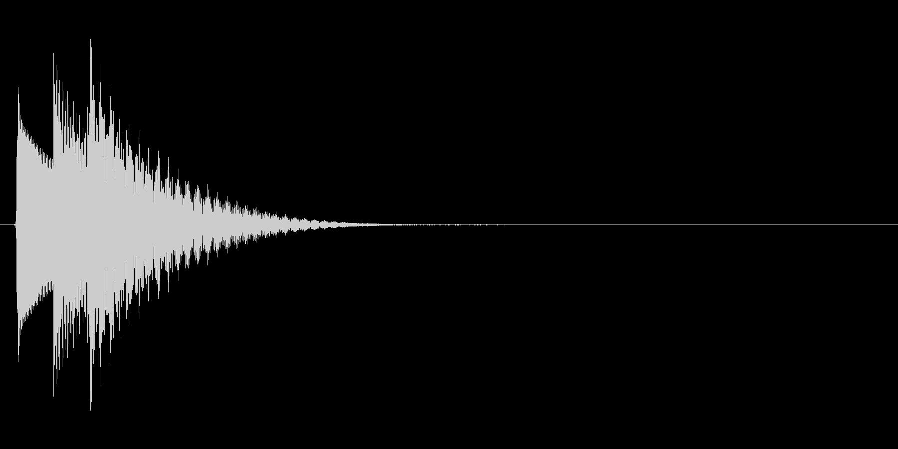 シンプルで汎用的な決定音その2の未再生の波形