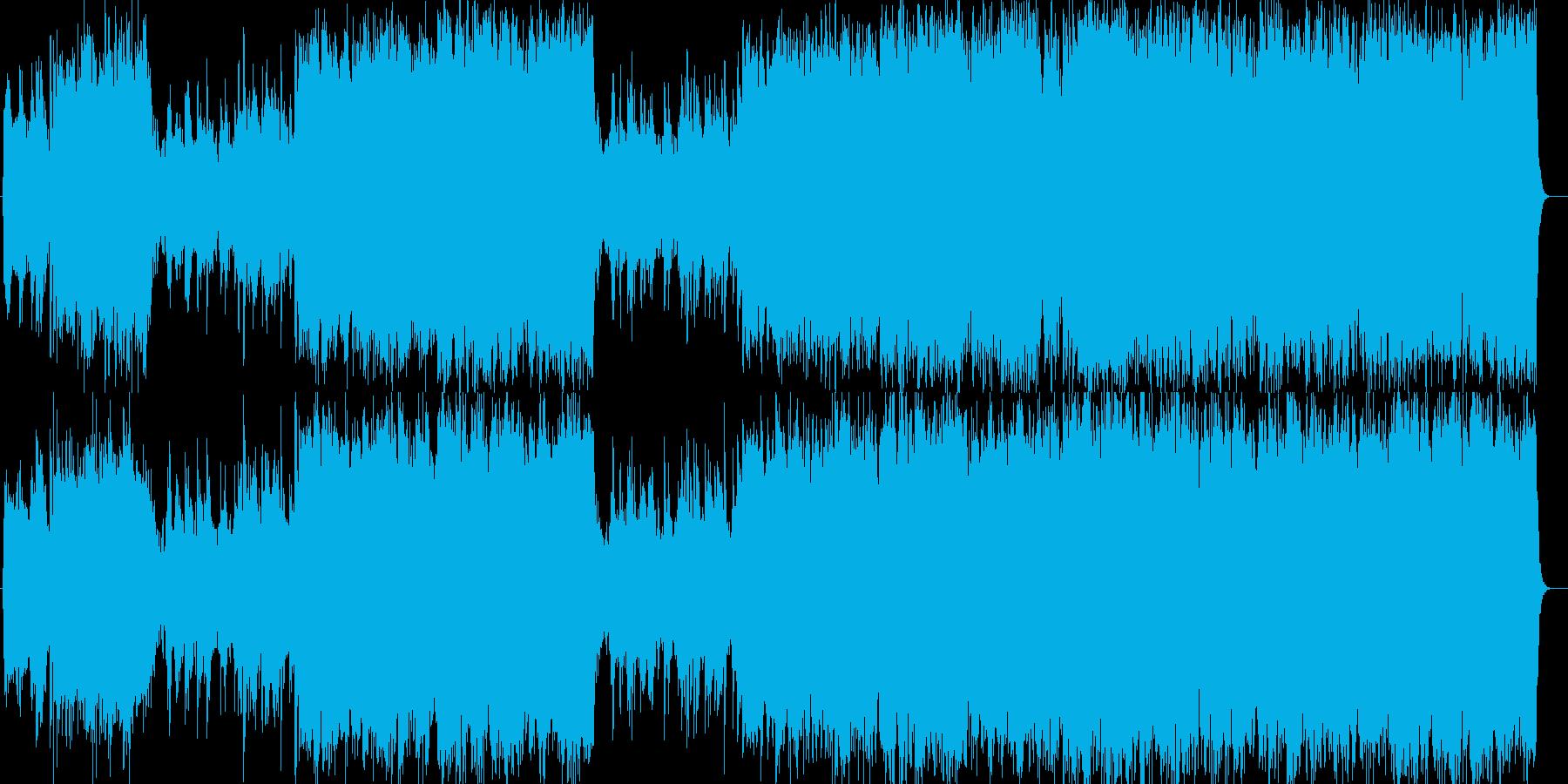 壮大で晴れやかなシンセサイザー音楽の再生済みの波形