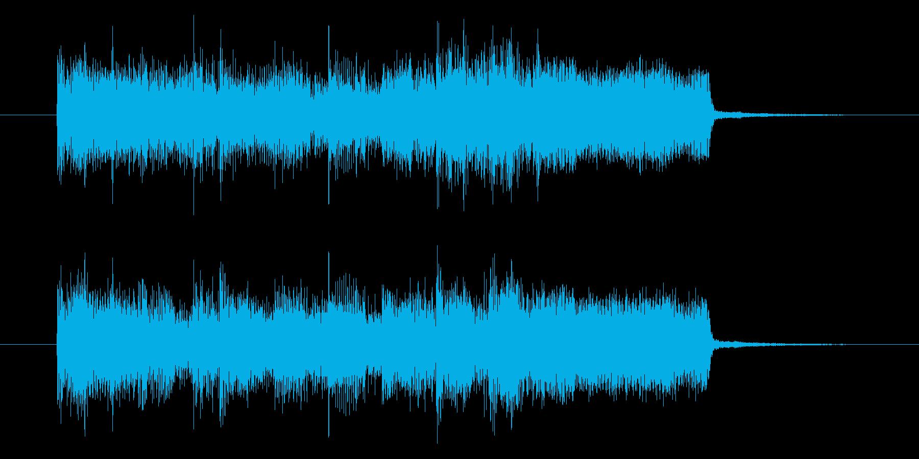 疾走感のあるロックギターの再生済みの波形