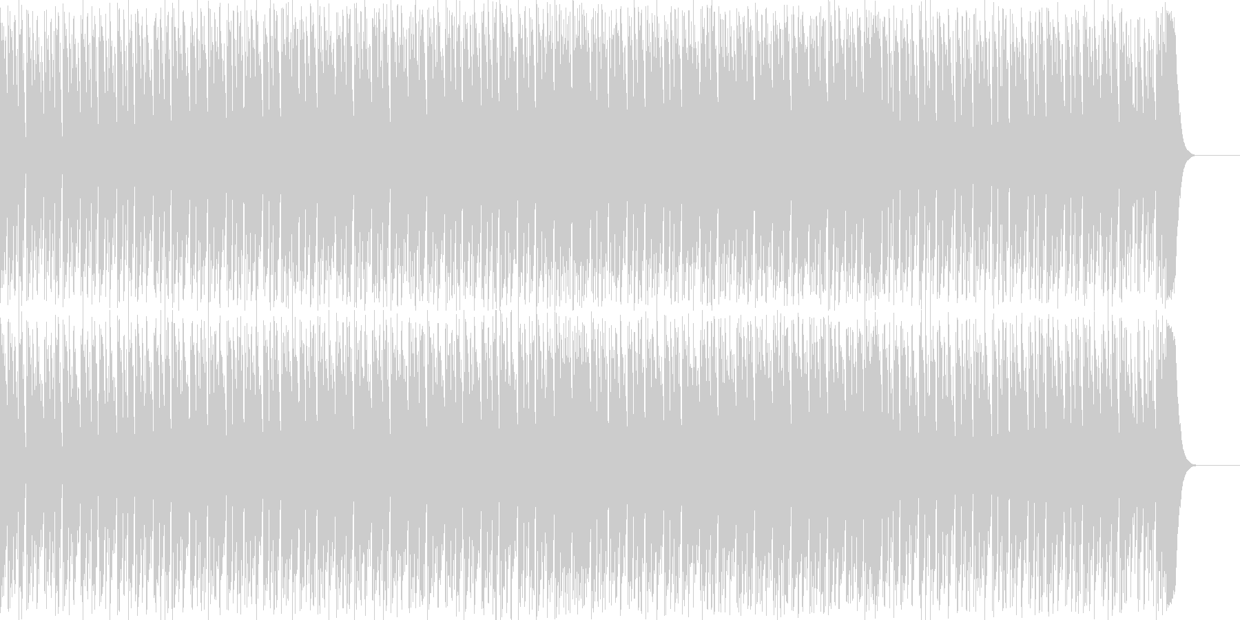 ループがしやすいミニマルテクノの未再生の波形