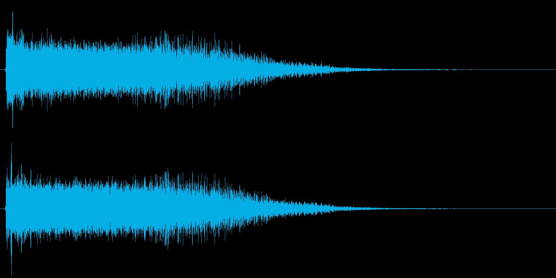 強い敵を倒したときの効果音2の再生済みの波形