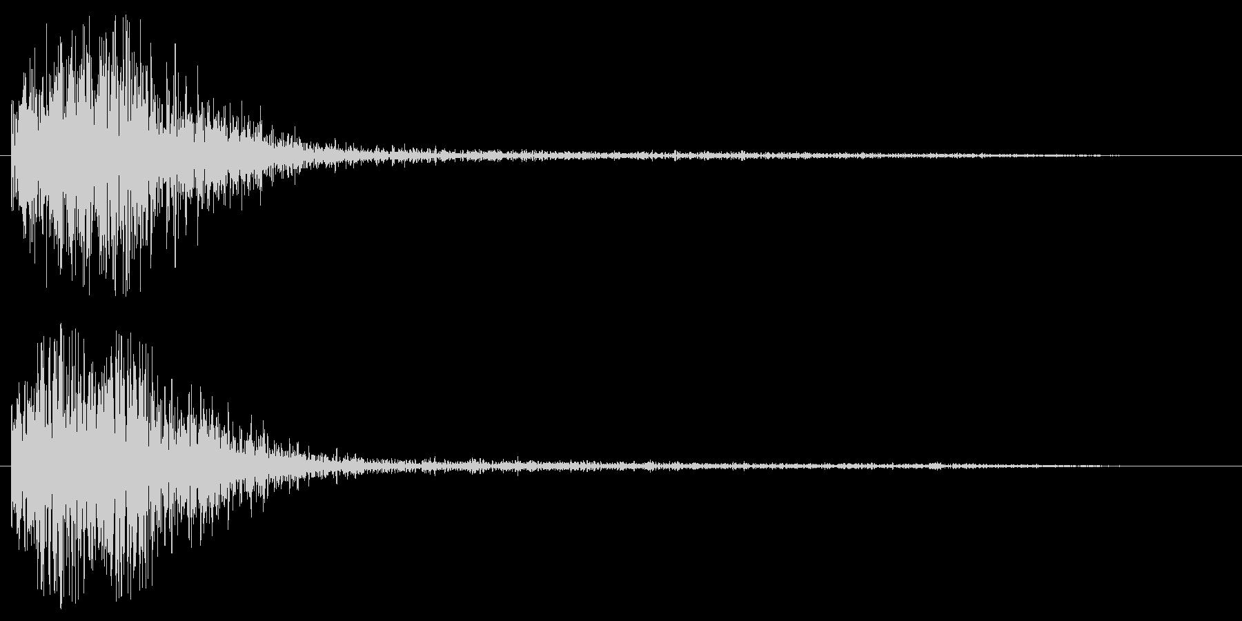 ゴォン(SF感のある謎めいた効果音)の未再生の波形