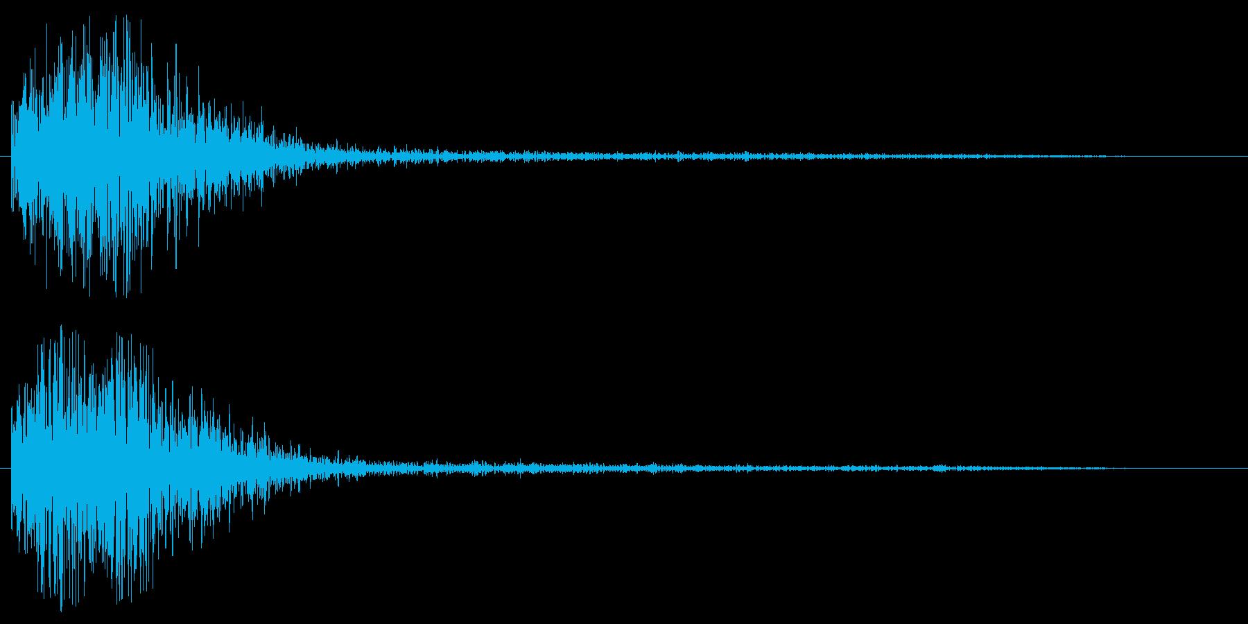 ゴォン(SF感のある謎めいた効果音)の再生済みの波形