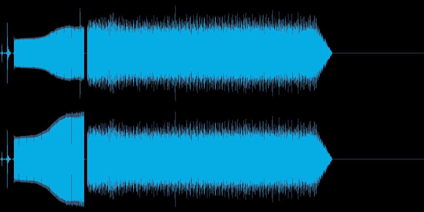 スイッチで機械切り替わりの再生済みの波形