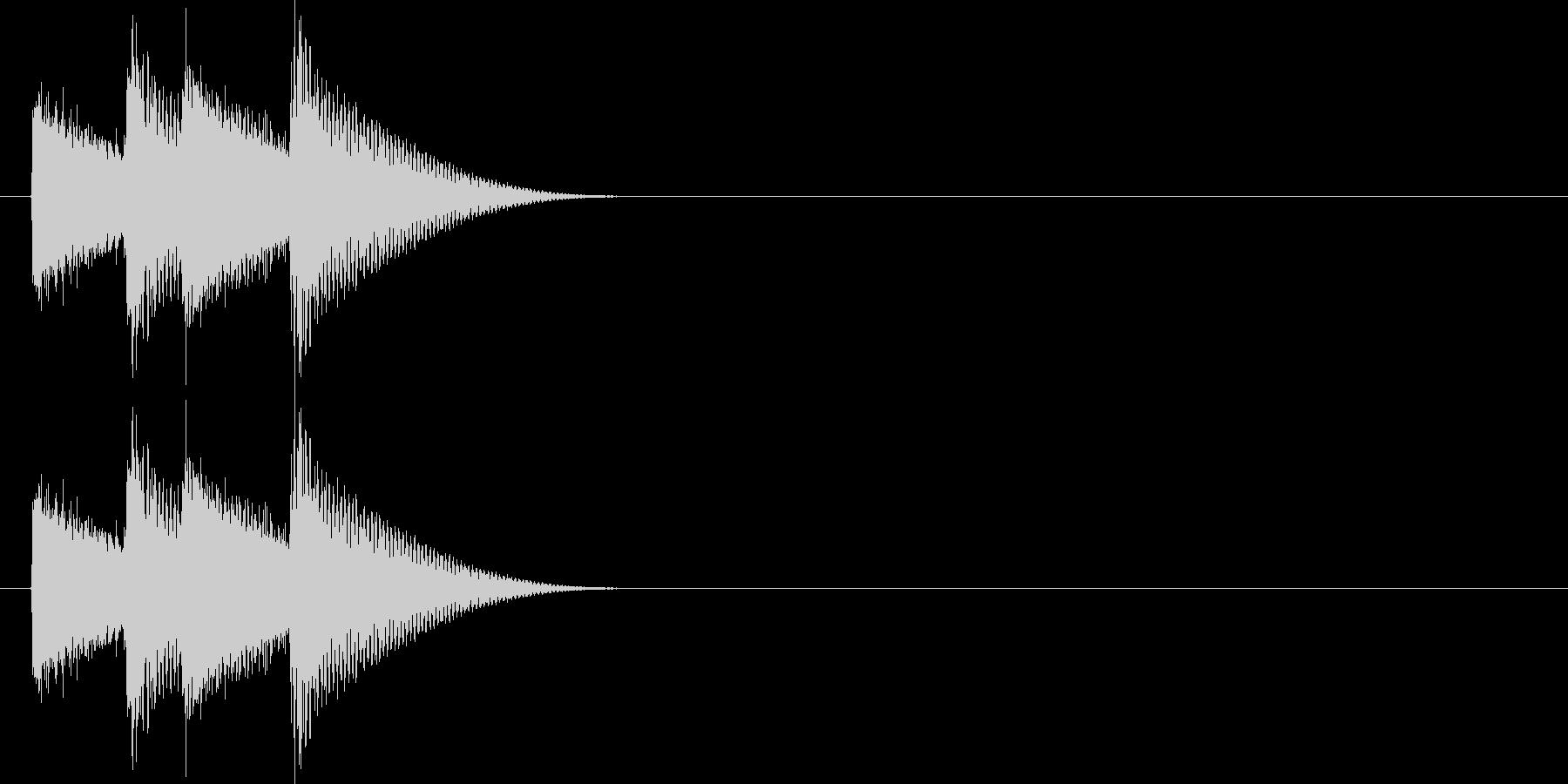 金属的なキラキラの未再生の波形