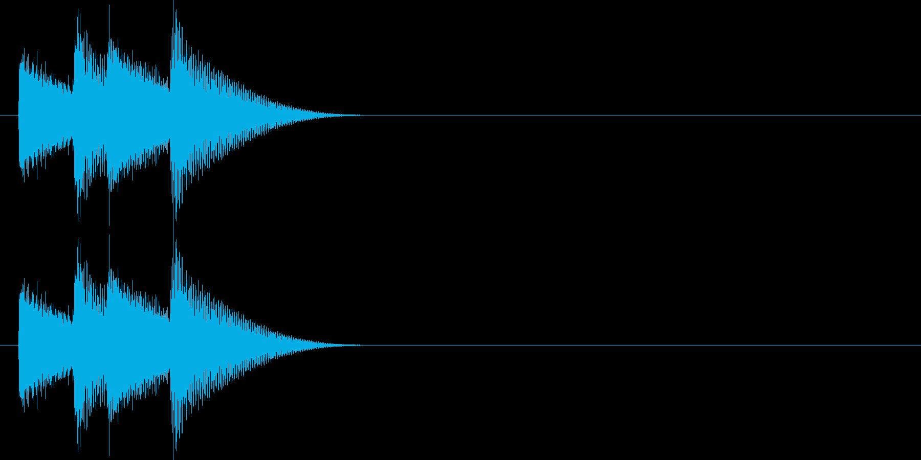 金属的なキラキラの再生済みの波形