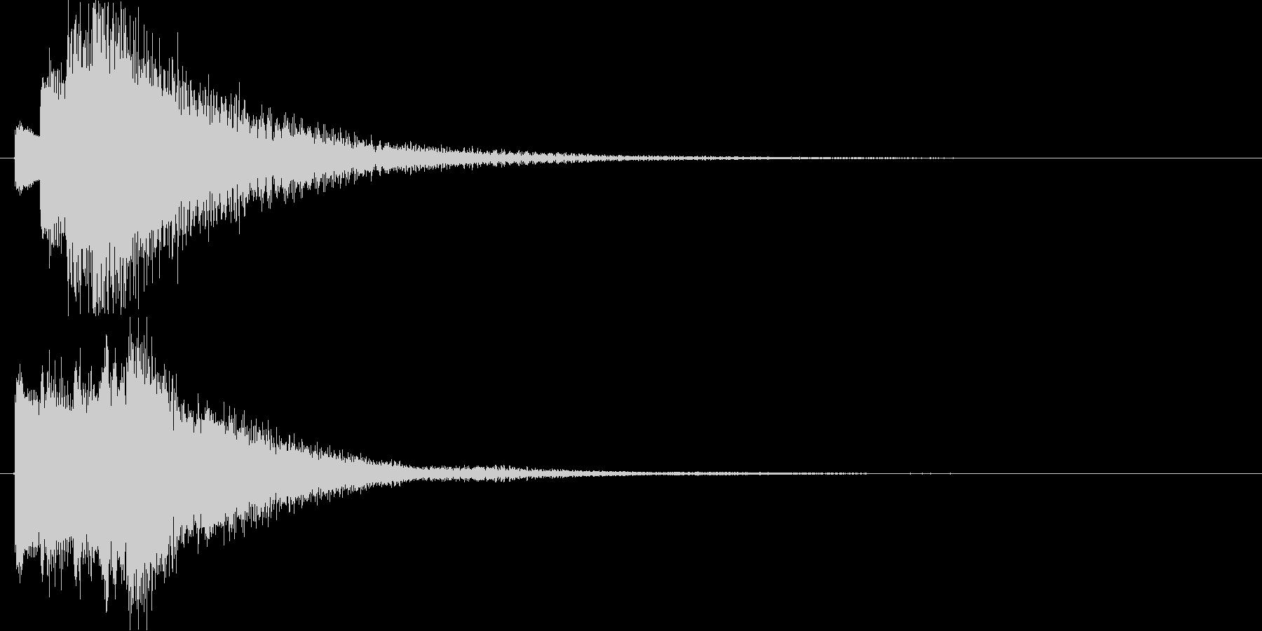 チャララララン↑(キラキラ、決定)の未再生の波形