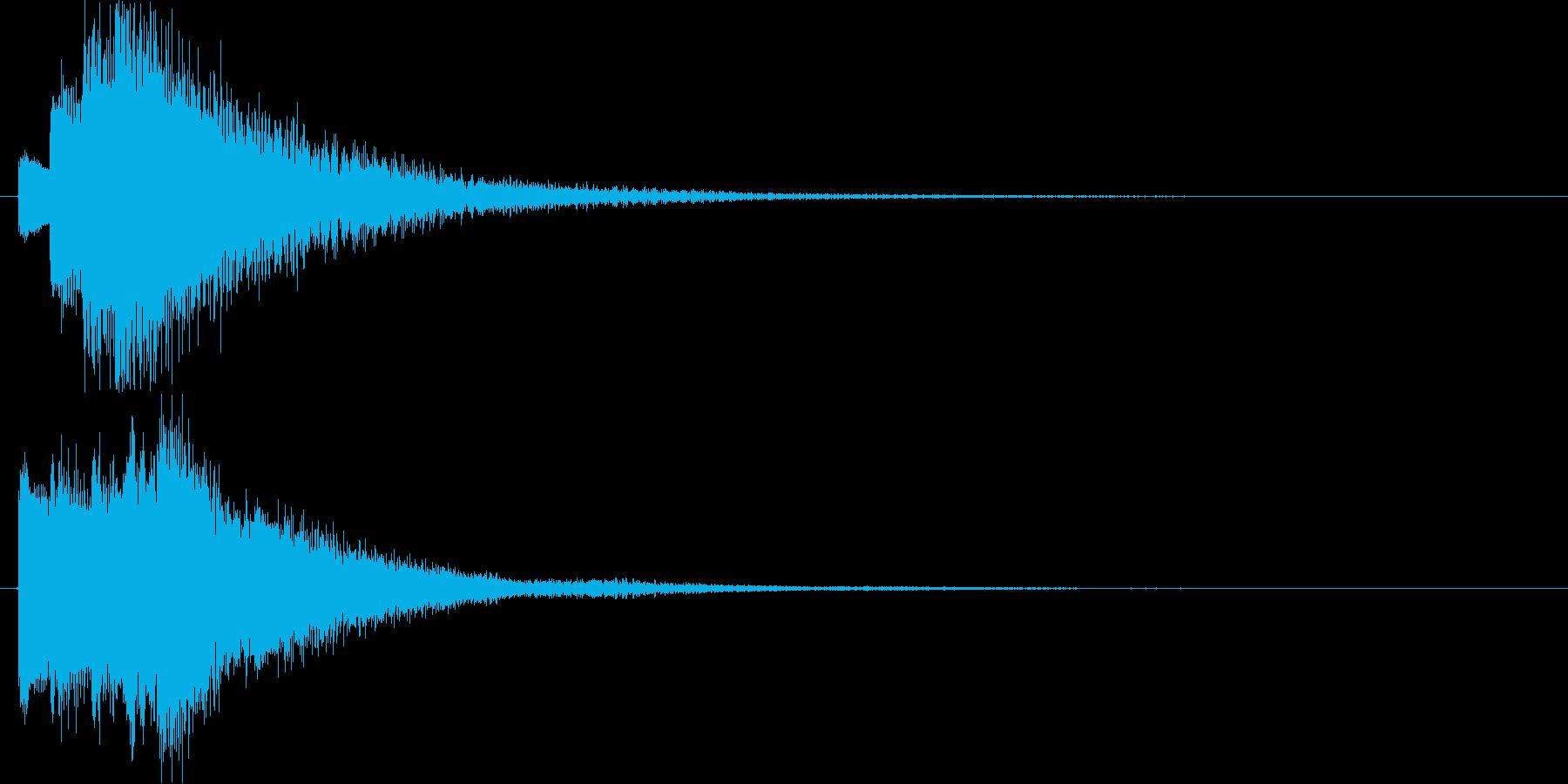 チャララララン↑(キラキラ、決定)の再生済みの波形