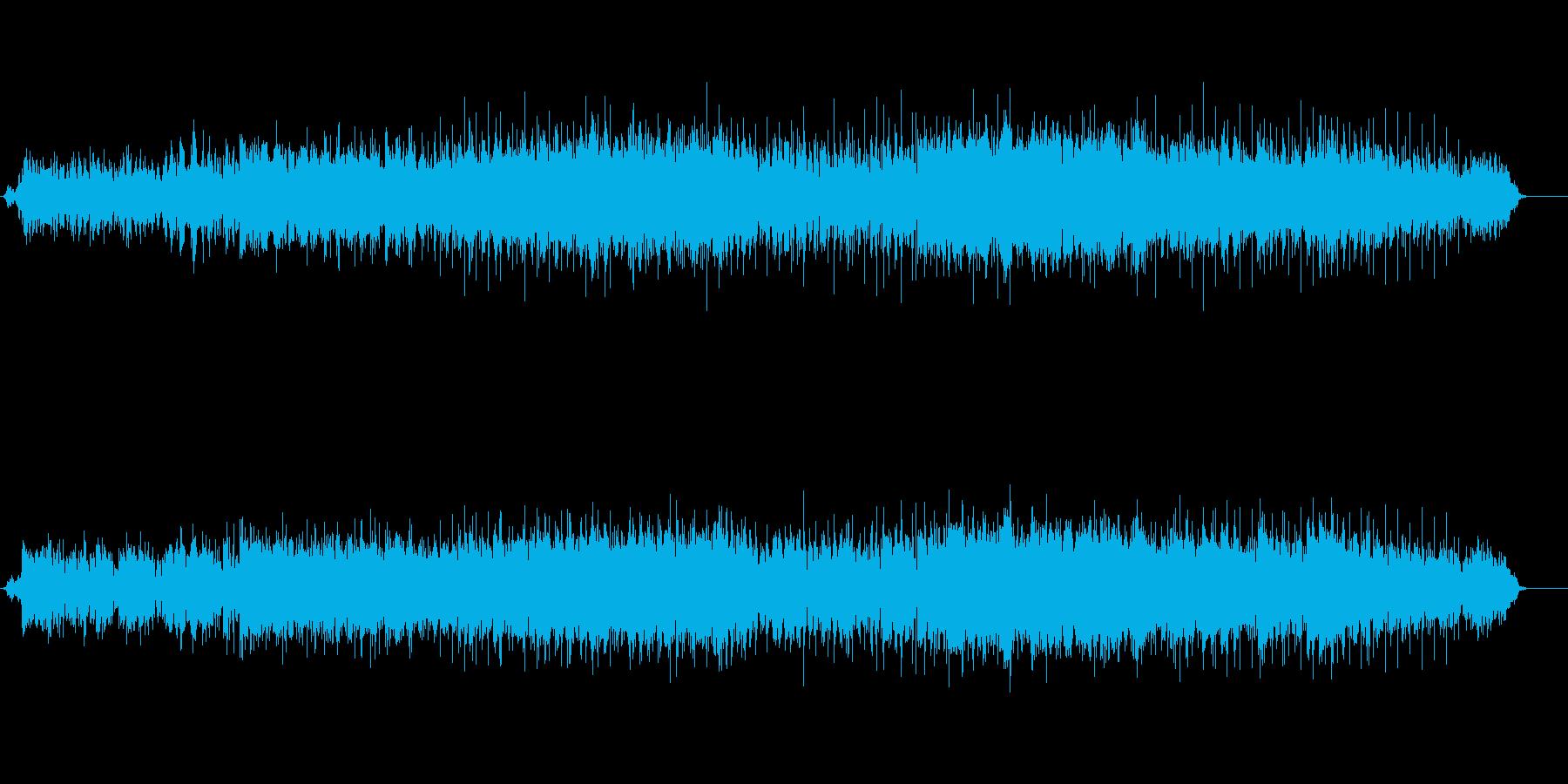 ゆったりと盛り上がるバラードの再生済みの波形