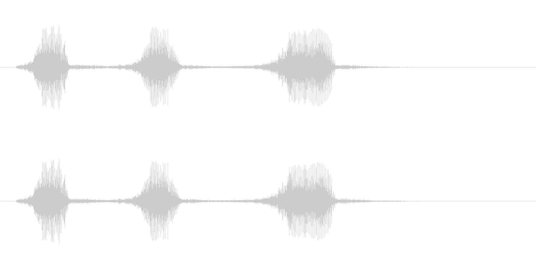 フラフラになって倒れたときのゲーム系SEの未再生の波形