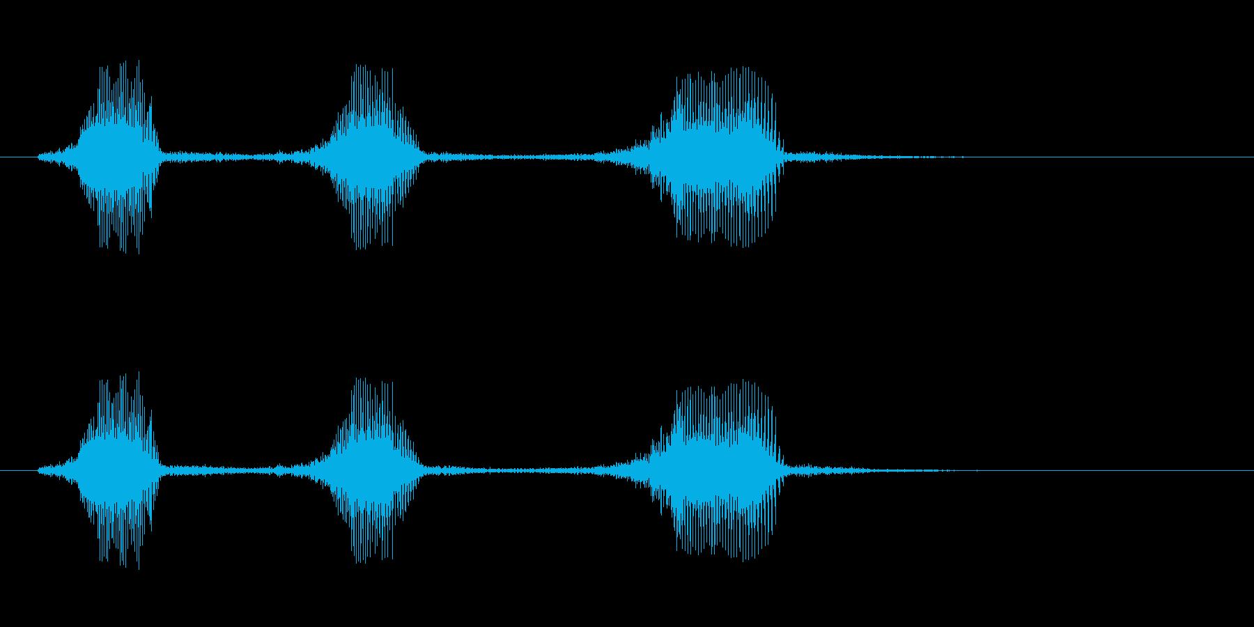 フラフラになって倒れたときのゲーム系SEの再生済みの波形