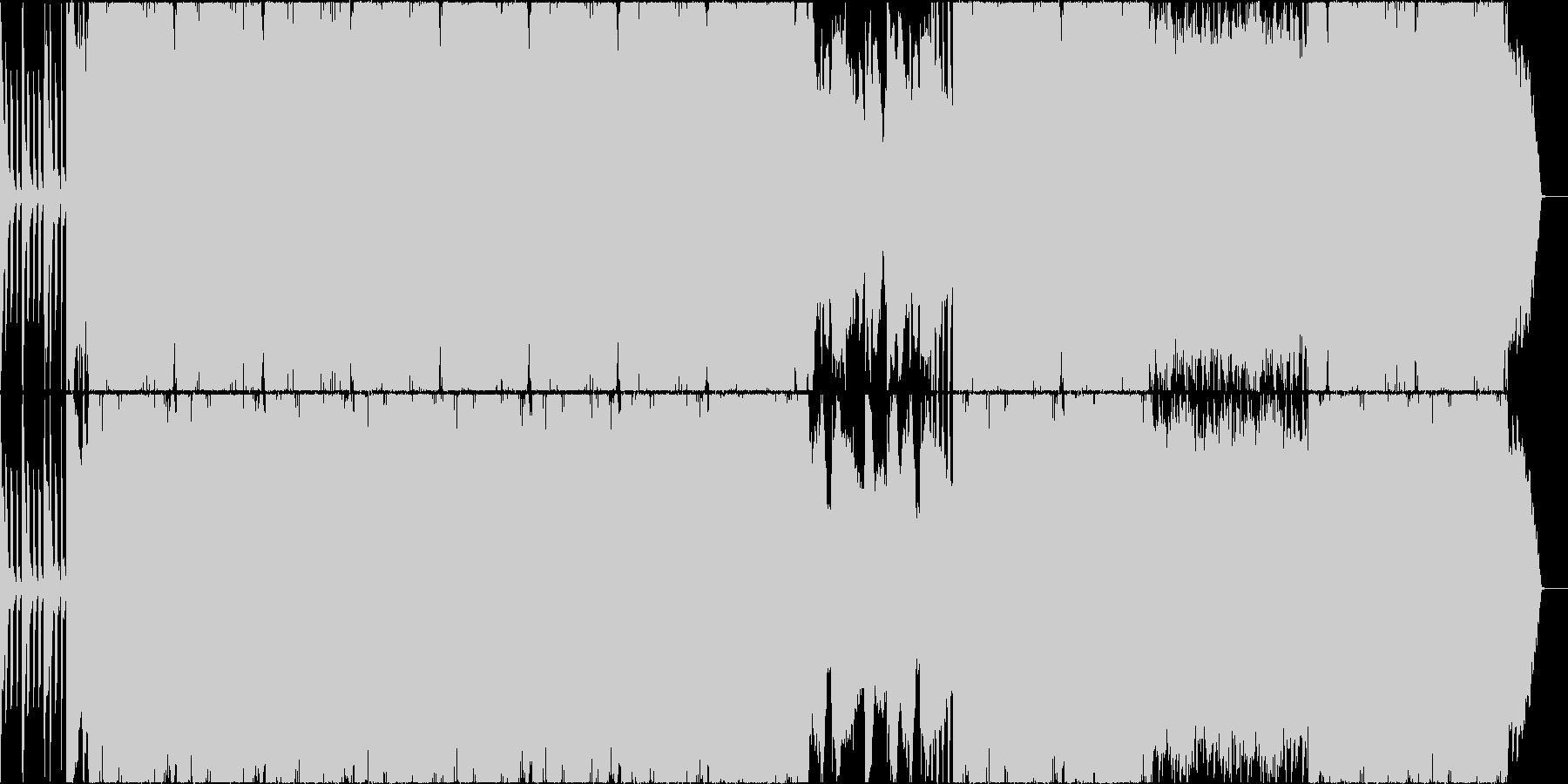 唸るベースのおしゃれピアノサウンドの未再生の波形