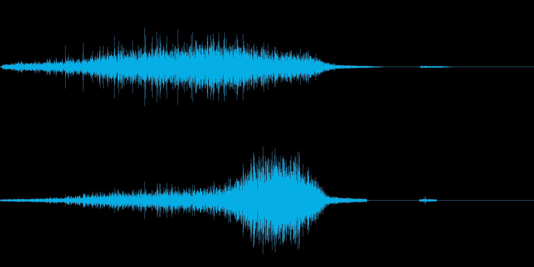 シュイ(入り口を閉じる)の再生済みの波形