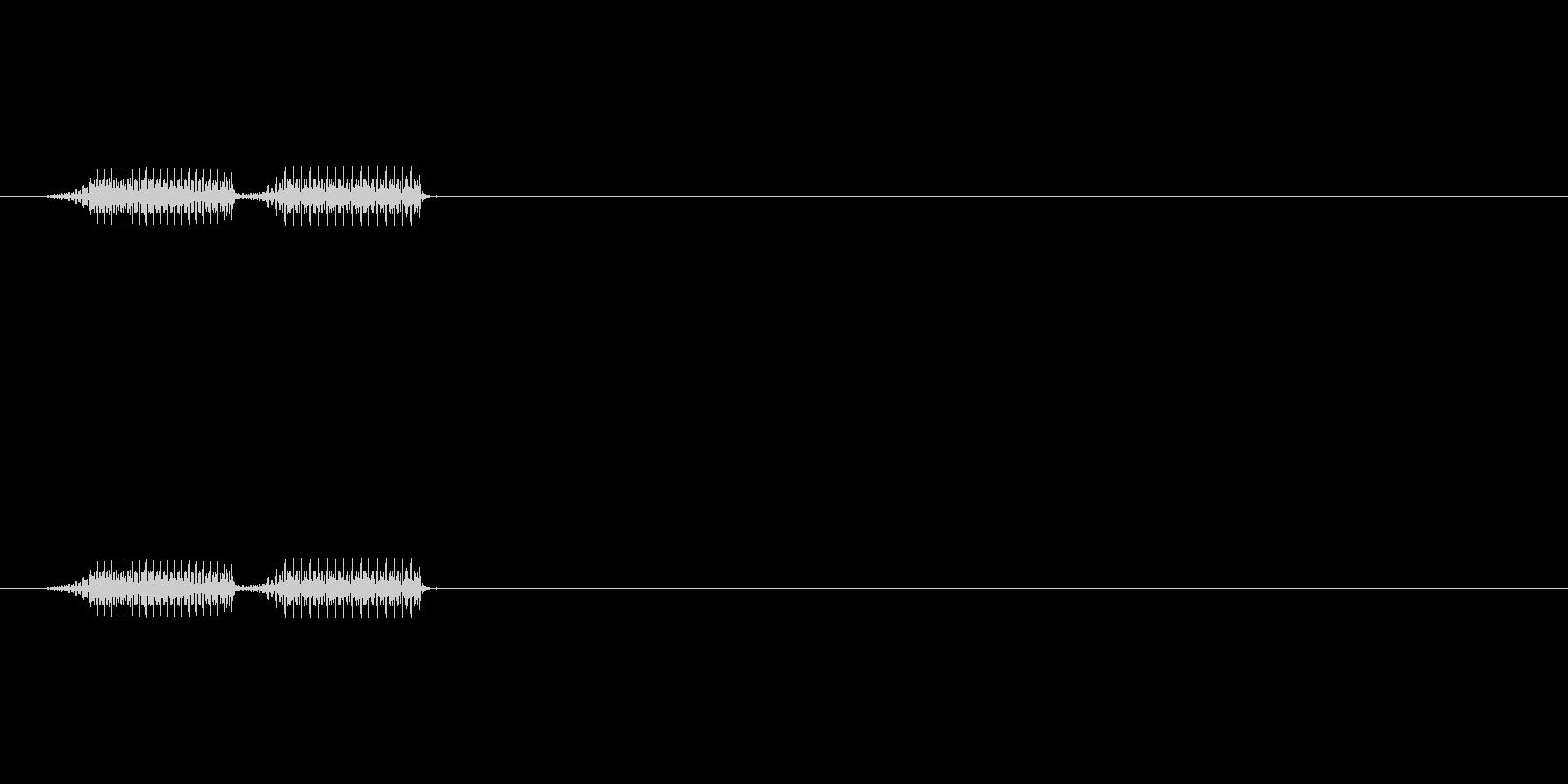 デデン↓(ファミコン風エラー音)の未再生の波形