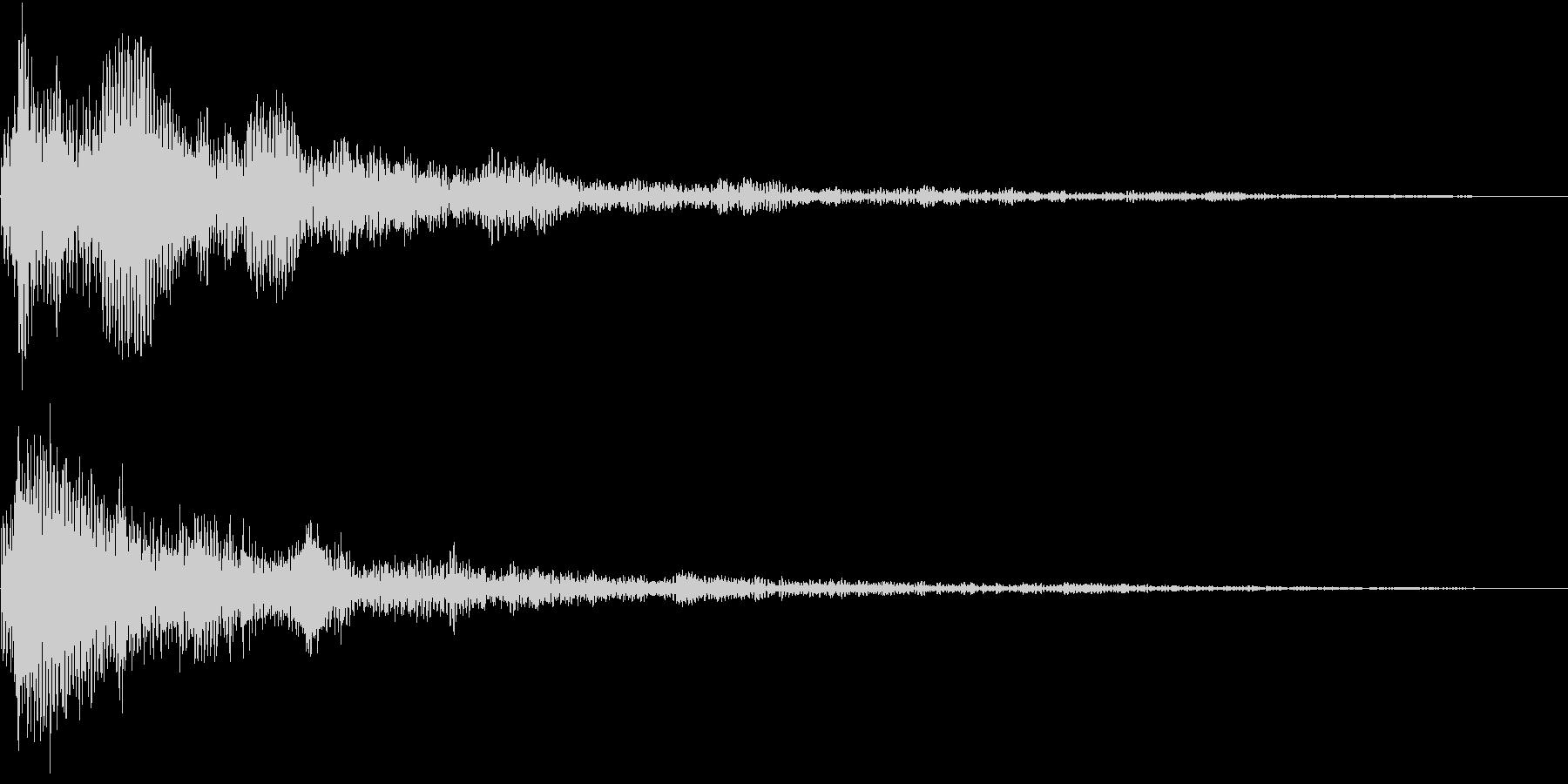 TVFX 重厚な残響の衝撃SE 低音強調の未再生の波形