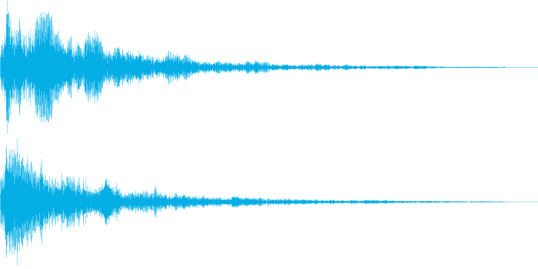 TVFX 重厚な残響の衝撃SE 低音強調の再生済みの波形