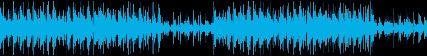 【ハワイアンな雰囲気のBGM】の再生済みの波形