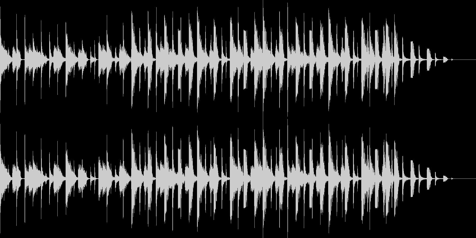 サンバをイメージしたBGMの未再生の波形