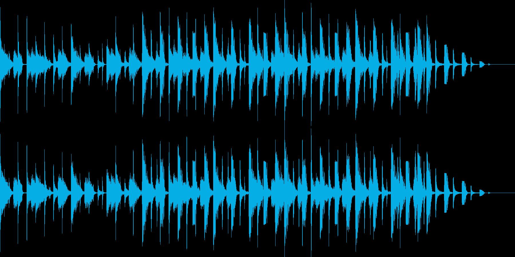 サンバをイメージしたBGMの再生済みの波形