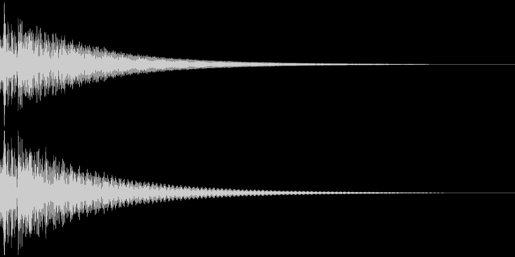 ドドン(和太鼓二発)の未再生の波形