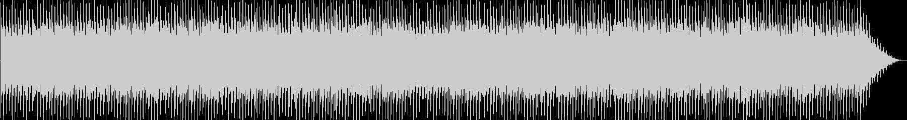 明るい躍動感あるテクノ音の未再生の波形