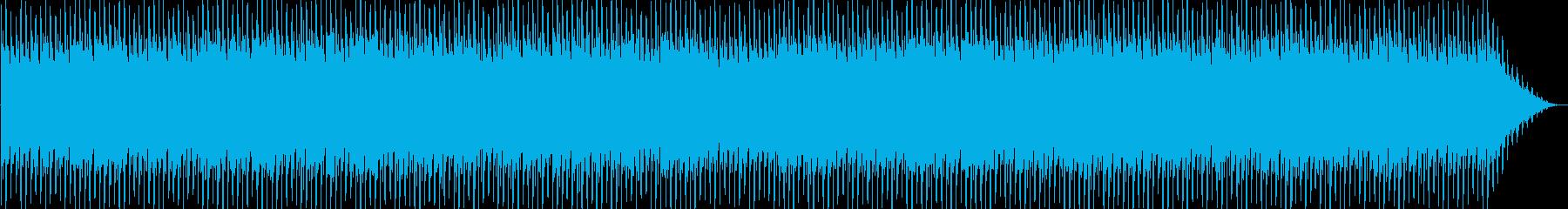 明るい躍動感あるテクノ音の再生済みの波形