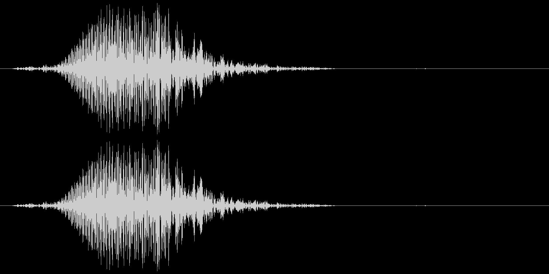 犬の鳴き声 1回吠える 中型犬 大型犬の未再生の波形