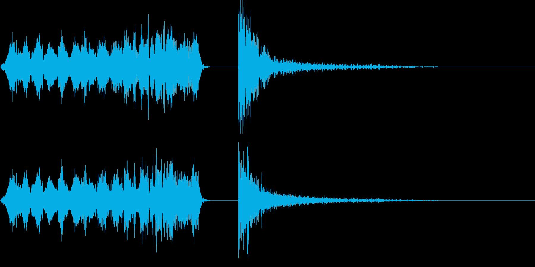 溜め攻撃音01の再生済みの波形