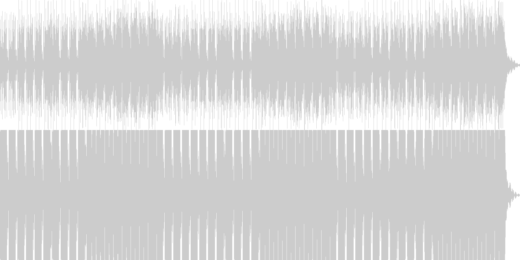 リズム主体のダークなBGMです。の未再生の波形