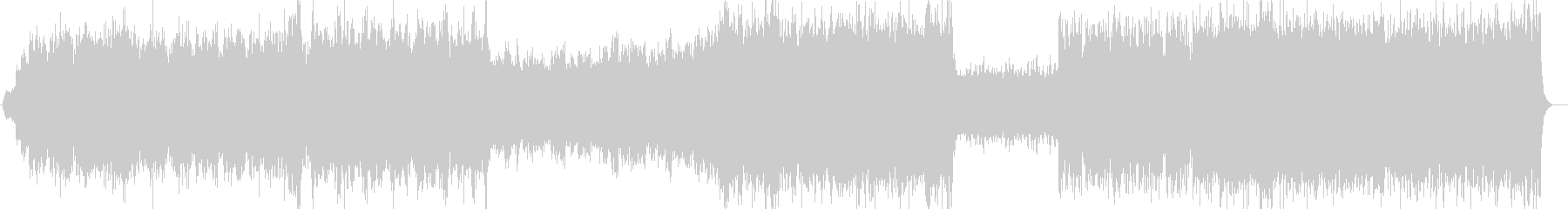 盛大なオープニングBGMシンセサイザー曲の未再生の波形