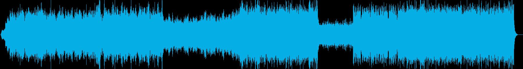 盛大なオープニングBGMシンセサイザー曲の再生済みの波形