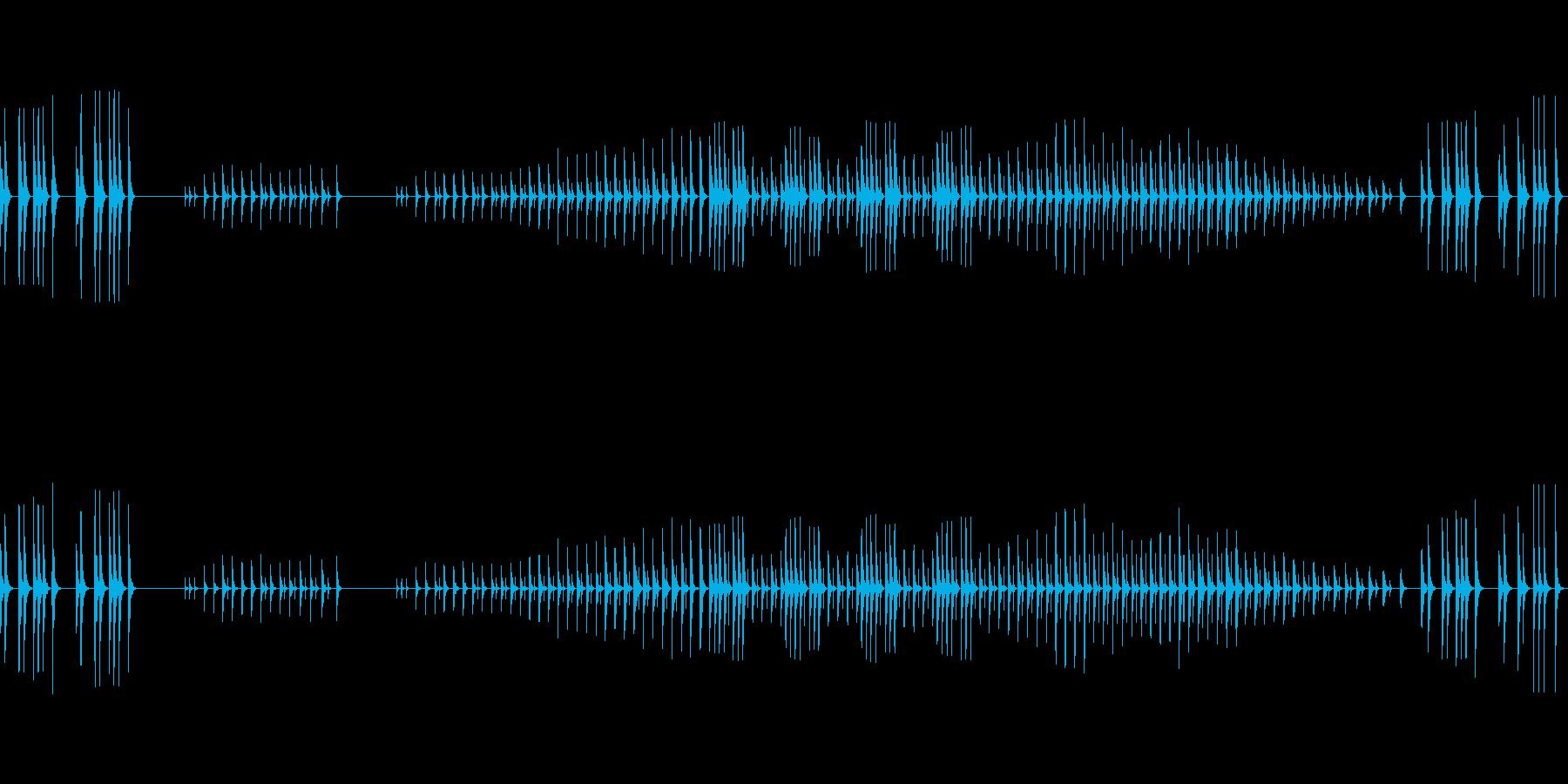禅の世界-太鼓と木鼓の再生済みの波形